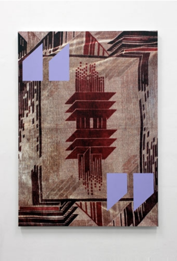 CARPET ll 2012 - pigment transfer print and acrylic on aluminium - 140 x 100cm