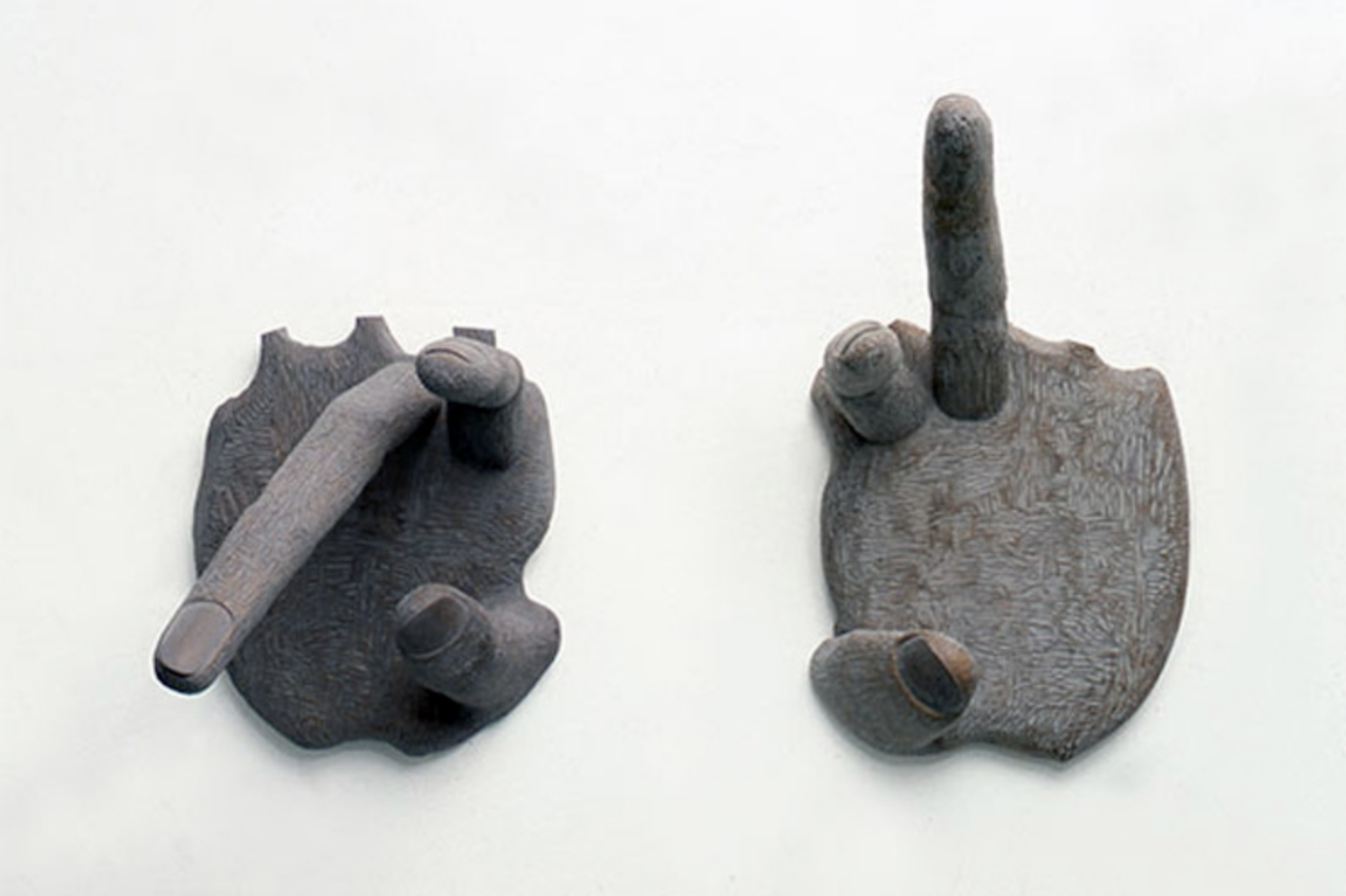 Two hands 2001 - 57 x 49 x 61cm and 73 x 47 x 56 cm limewood
