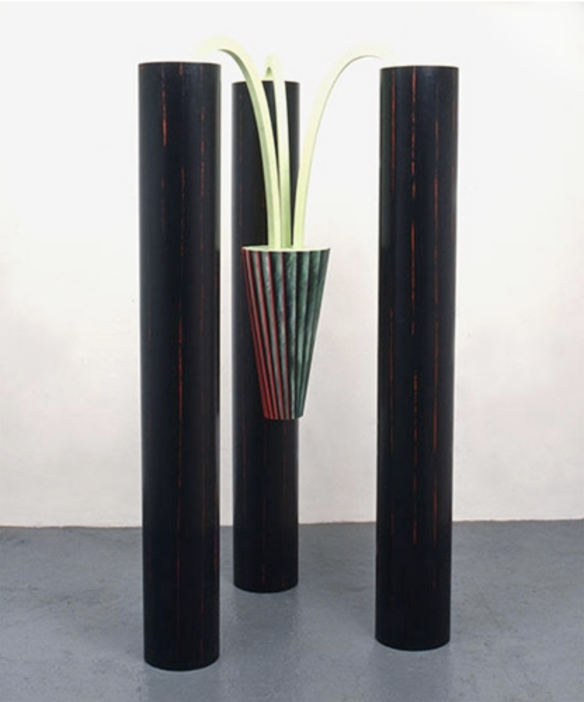 TRIAD 1985 - Painted wood and PVC - 248 x 100 x 100cm
